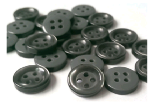 Pearlized Immitation Resin Button