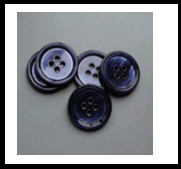 Blue Mother of Pearl Button