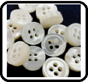 Austraslian White Mother of Pearl Button