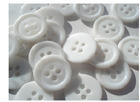White Resin Button
