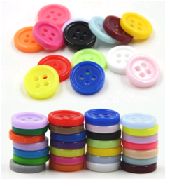 Colored Candy Resin Button