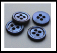 Navy Shell Button