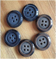 Grey Polyester Suit Button