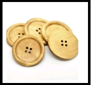 Wood Button for Coat