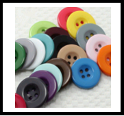 Colored Resin Coat Button